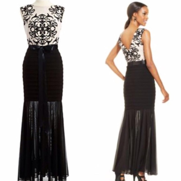 Betsy & Adam Dresses | Betsy Adam Mermaid Silhouette Evening Gown ...